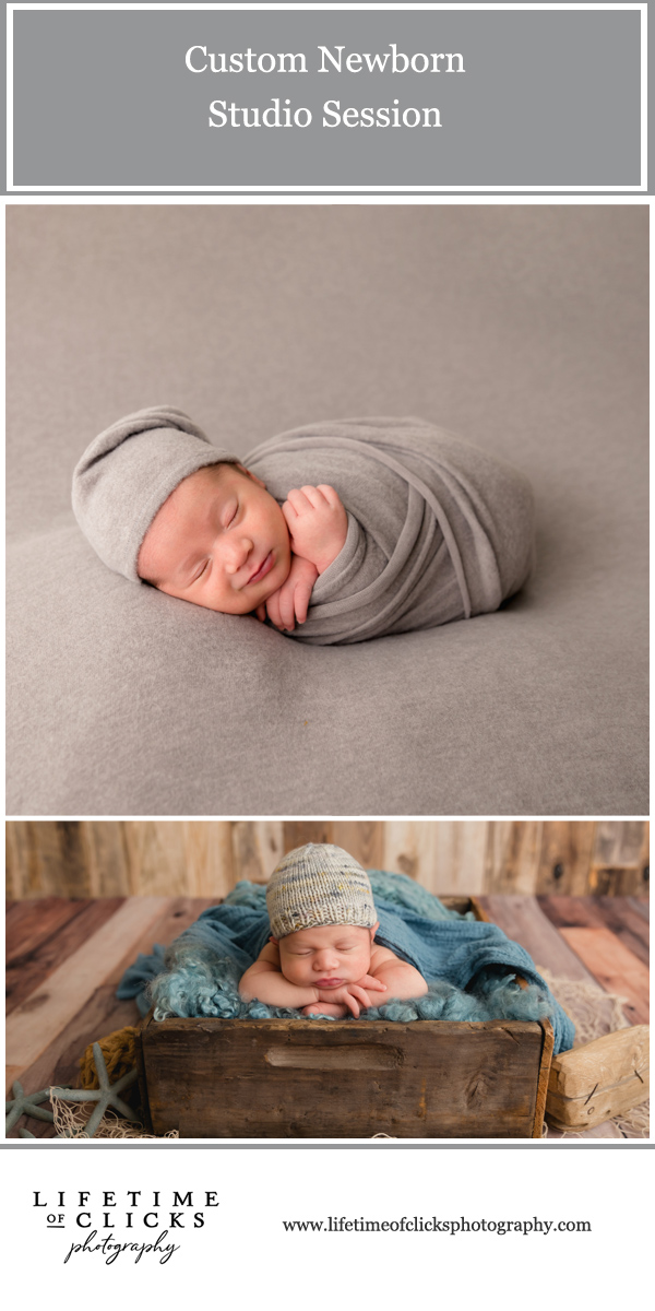 Custom Newborn Session by Lifetime of Clicks Photography   Click to see a newborn session in neutral and organic tones.