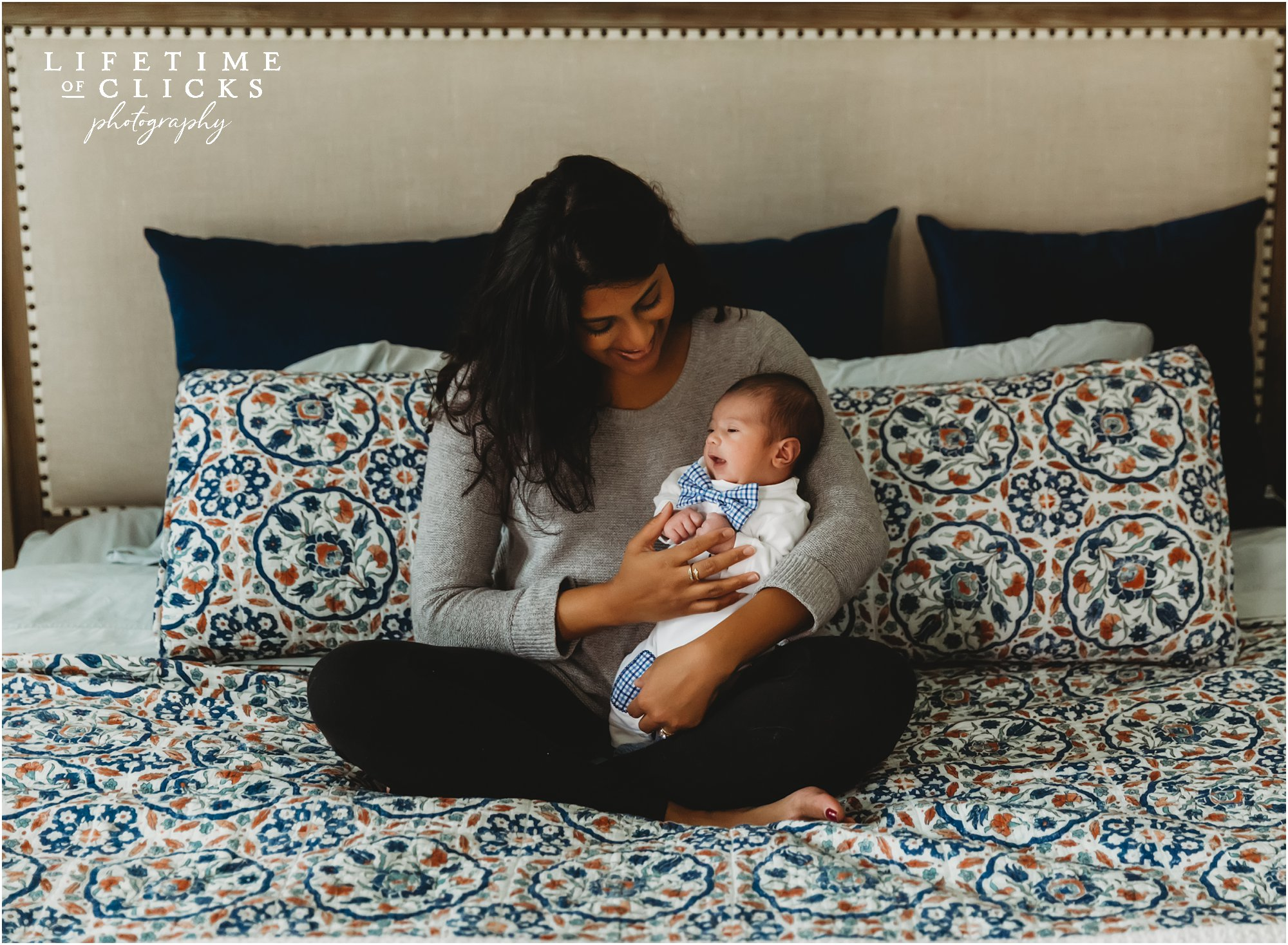 In-home lifestyle newborn session by Lifetime of Clicks Photography