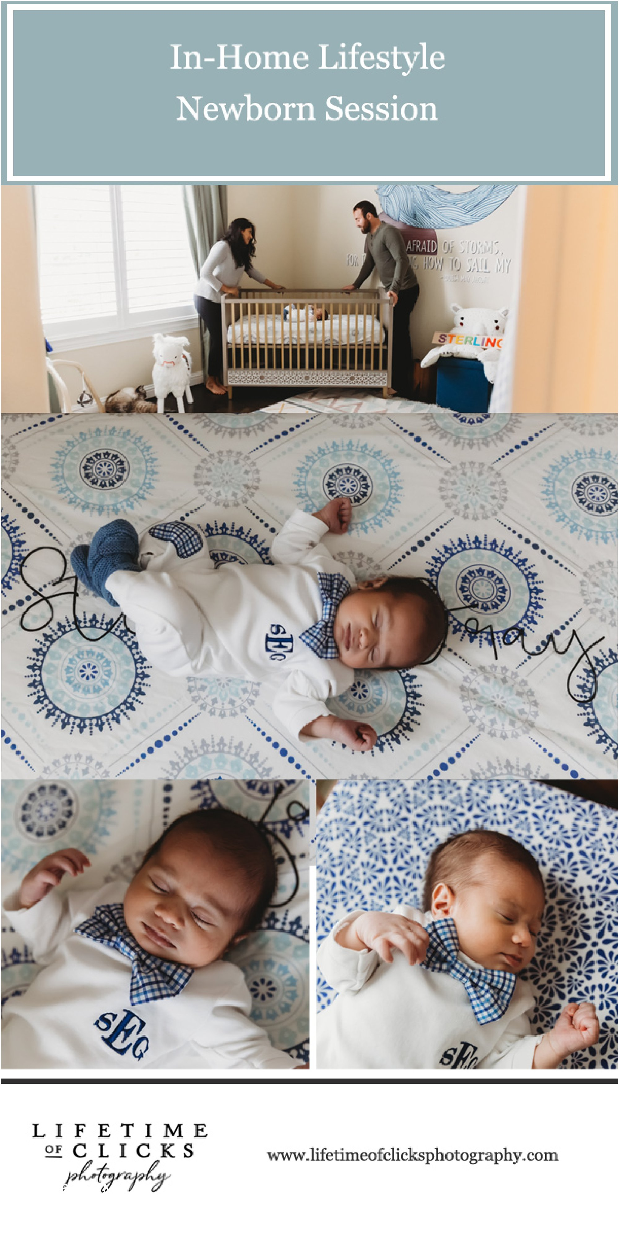 In-Home Lifestyle Newborn Session by Lifetime of Clicks Photography | Newborn Photography Session in Katy, TX